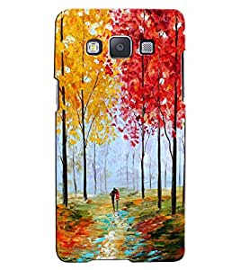 Citydreamz Boy and Girl/Jungle/Trees/Colorful/Couple Hard Polycarbonate Designer Back Case Cover For Samsung Galaxy E7