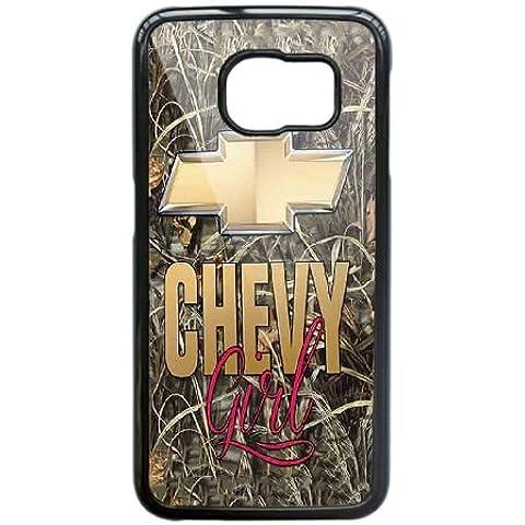 Cover Samsung Galaxy S6 Cell Phone Case Nero Camo Chevy Girls Chevrolet Logo C4I7BI