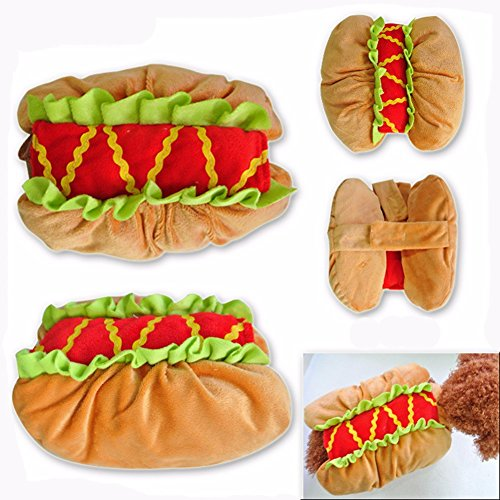 Pet Online Hund Kleidung Halloween Dress Up Lustiges hot dog Cosplay fancy Festival Kostüm, S