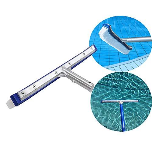 Reinigungs bürstenkopf für Schwimmbecken Algen Boden & Wand Handbürstenkopf Reinigungswerkzeug für Schwimmbecken Mühelos Wände, Fliesen, Böden, Glatte und Starke Borsten Reinigungsbürstenkopf
