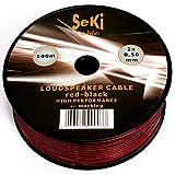 Câble de Haut-Parleur 2x 0,5mm²-Rouge/Noir-Bobine...