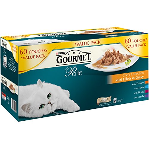 Gourmet Perle Cat Food Chefs Collection, 60 x 85g