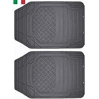 Cenni 38925 Set 2 Tappeti Auto in Gomma Sagomabili Universali Made in Italy