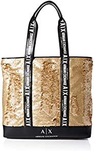 Armani Exchange Tote Bag for Women- Gold