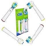 Floss Action Aufsteckbürsten für Oral-B elektrischen Zahnbürsten,Ersatz für EB25 Oral-B Tiefenreinigung Aufsteckbürsten, Voll kompatibel mit Oral-B Vitality, Professional Care und anderen elektrischen Zahnbürsten. Ersatzzahnbürsten von ITECHNIK