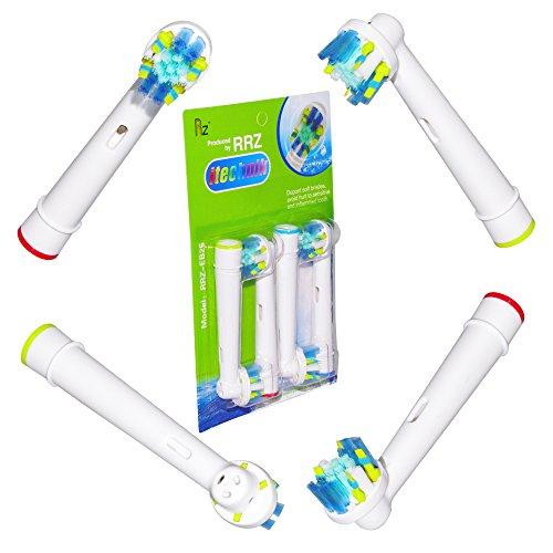 ITECHNIK EB25A - 4 pièces de brosse à dents électrique Têtes de remplacement compatible avec Braun Oral B Flossaction