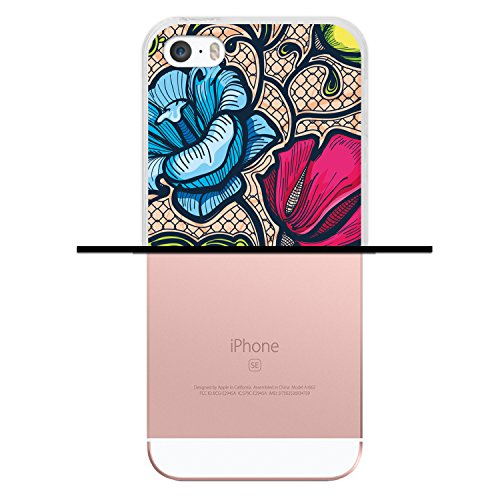 iPhone SE iPhone 5 5S Hülle, WoowCase Handyhülle Silikon für [ iPhone SE iPhone 5 5S ] Japanische Kunst Traditionelle Ornament Handytasche Handy Cover Case Schutzhülle Flexible TPU - Transparent Housse Gel iPhone SE iPhone 5 5S Transparent D0551