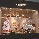 Árboles de Navidad de Navidad decoración escaparate elk pared ,60*90cm*2pcs