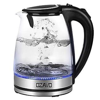 OZAVO-Glas-Wasserkocher-Wasserkocher-mit-LED-18L-Edelstahl-Glaswasserkocher-mit-Filterauslauf-Glas-Teekocher-Trockenlaufschutz-Warmhaltefunktion-BPA-Frei
