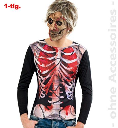 Oberteil, Shirt Zombie mit hochauflösendem Druck, für Halloween, Karneval, Party * NEU bei pibivibi (Large)