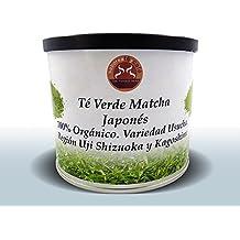 Té verde natural Matcha Japonés de Uji, Shizuoka y Kagoshima 100% Bio orgánico y original. Grado ceremonial. Variedad Usucha. 100g Ecológico polvo puro. Infusión Adelgazante y quemagrasas