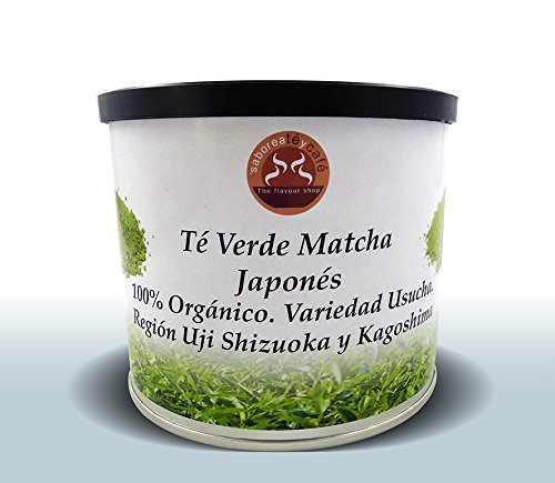 SABOREATE Y CAFE THE FLAVOUR SHOP Té Verde Natural Matcha Japonés 100% Original Grado Ceremonial...