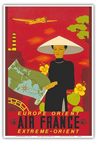 europa-osten-fernost-air-france-vintage-retro-fluggesellschaft-reise-plakat-poster-von-lucien-bouche