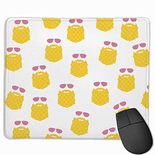 Sonnenbrille Ananas Qualität Komfortable Game Base Mauspad mit genähten Kanten Größe 11,81 * 9,84 Zoll