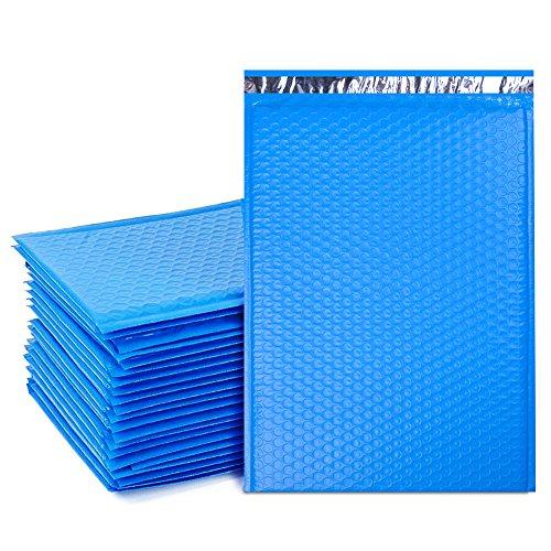 ucgou # 510,5x 40,6cm Poly Blase Mailer Protected blau selbst Seal Luftpolstertaschen Staubbeutel 25Stück - Versandtaschen Seal Selbst Poly