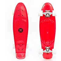 "3Style® Skateboards - 27"" Cruiser Skateboard - Plastic Retro Complete Board - The Perfect Retro Cruiser - 27"" X 7.5"" Deck 