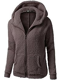 K-youth® Ropa Mujer Invierno Barata Abrigo con cremallera Algodón Chaquetas Ropa de abrigo