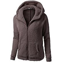K-youth® Ropa Mujer Invierno Abrigo con Cremallera Algodón Chaquetas Ropa  de Abrigo Sudaderas 25a52ced8bbf
