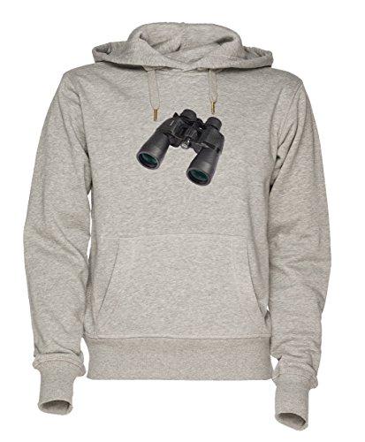 Fernglas Unisex Grau Sweatshirt Kapuzenpullover Herren Damen Größe S
