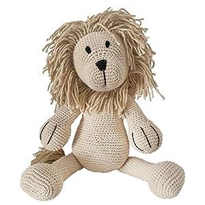 LOOP BABY gehäkelter Löwe Leo aus Bio-Baumwolle – handgemachtes Kuscheltier mit Name- Plüschtier Löwe – personalisiertes Kuscheltiere