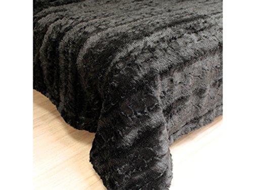 Tagesdecke 220x240 cm LAPONIE schwarz