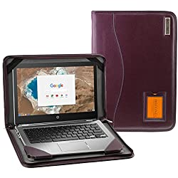 Navitech Étui en cuir véritable pour ordinateur portable, Cuir, Purple Leather, HP ProBook 640 45