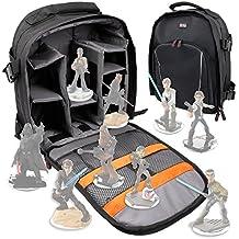 DURAGADGET Mochila Para Guardar / Organizar Las Figuritas Disney Infinity 3.0 - Star Wars - Incluye Funda Impermeable - Con Compartimentos Internos