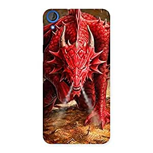 Red Fantastic Dragon Back Case Cover for HTC Desire 820s