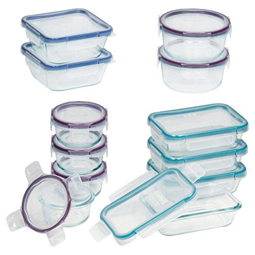 Snapware 24-Piece Total Solution Food Storage Set, Glass by Snapware
