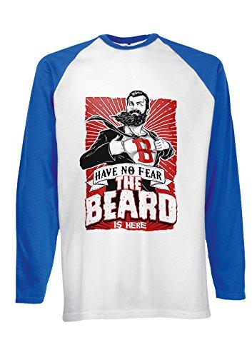 ... T Shirt Verschiedene Farben Blau. The Beard Is Here Have No Fear  Superhero Novelty Black/White Men Women Damen Herren