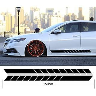 Seitenstreifen Aufkleber Auto Seitenaufkleber Dekor Low Tuning Rennstreifen Tuningstreifen Side Stripes Autoaufkleber