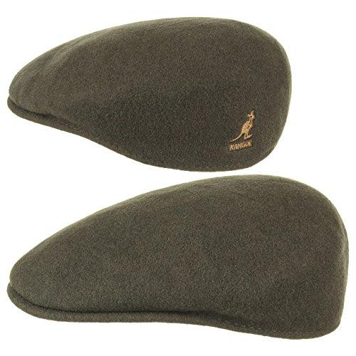 Kangol Herren Damen Mütze Schirmmütze Flatcap Original 504 | Schlägermütze mit Kultstatus 0258BC Schirmmütze Mütze (L/58-59 - oliv)