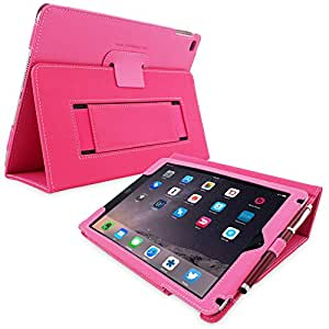 Snugg iPad 3 & 4 Case - Smart Cover with Flip Stand & Lifetime Guarantee (Hot Pink Leather) for Apple iPad 3 and 4