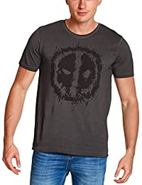 Deadpool para hombre de la camiseta de algodón gris Ojos Marvel