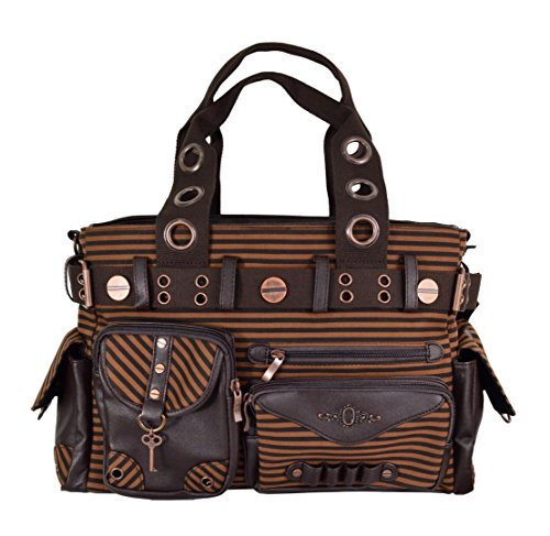 Banned Apparel Steampunk Stripe Shoulder Bag One Size
