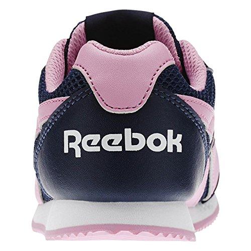 Reebok Mädchen Royal Cljog 2 Laufschuhe Blau / Rosa / Weiß (Collegiate Navy / Icono Pink / Wht)