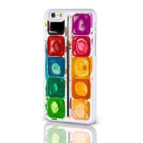 Artist Collection Phone Cases-Cover per Apple iPhone 8 cm. per pittura con acquerelli con tavolozza da colorare-Cover rigida per iPhone modelli dal iCaseDesigner, plastica, Paint Palette on a White Background, iPhone 6