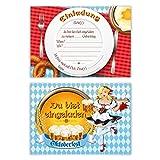 Einladungskarten Kindergeburtstag Jungen Mädchen 8 Stück Karten - Oktoberfest