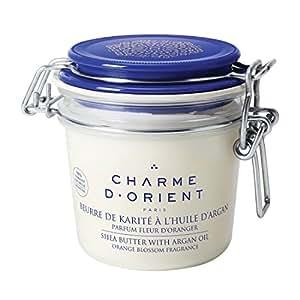 Charme d'Orient Beurre de Karité à l'Huile d'Argan Parfum Fleur d'Oranger Pot 200 g