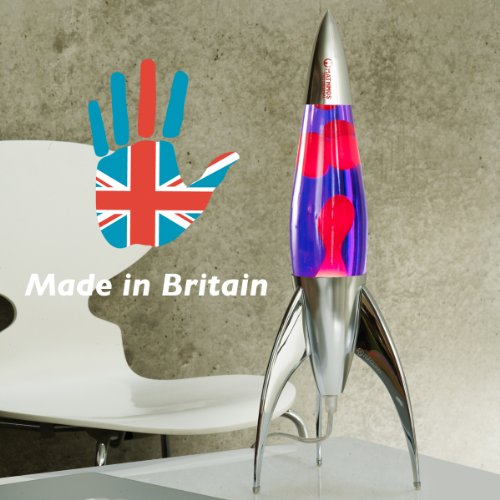 Mathmos Telstar Rocket Lava Lamp - Violet/Red