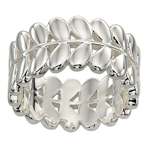 Orla Kiely Buddy Silber Stem Ring–Größe R