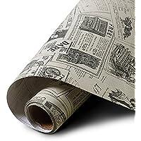 Yazi PVC Papel pintado autoadhesivo pegatinas mediterráneo estilo impermeable de grosor para sala de estar periódico 60x 300cm