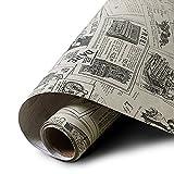 Yazi PVC-Tapete selbstklebend Aufkleber Mediterraner Stil wasserdicht Dick für Wohnzimmer Zeitung 60x 300cm
