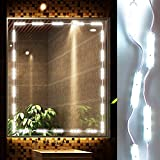 LED Vanity Mirror Lights Kit Ollny Hollywood Style Lighting Fixture Strip for Makeup Vanity Table Set in Dressing Room 10ft 60 Led Bulbs