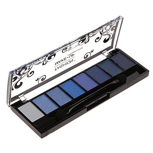 Palette Maquillage - 8 Fards Ombres à Paupières Teinte Dégradé de Bleu