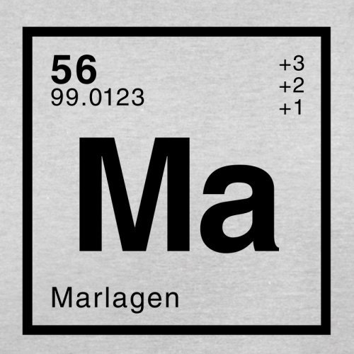 Marla Periodensystem - Herren T-Shirt - 13 Farben Hellgrau