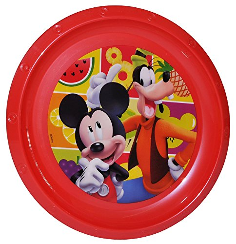 "großer Teller - Kinderteller "" Disney Mickey Mouse "" - ø 22 cm - aus Kunststoff / Plastikteller Plastik - Geschirr für Kinder - Micky - Mädchen - Speiseteller / Maus Mäuse Goofy - Playhouse"