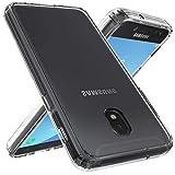 XEPTIO Coque Bumper Transparent pour Samsung Galaxy J7 2018 4G - Etui Fin Gel de Protection en TPU Gel Silicone Invisible Antichoc Slim avec Bords Renforcés - Accessoires Pochette Exceptional Case