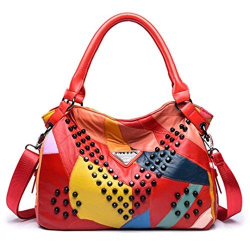 Damen Leder Mode GroßE KapazitäT BeiläUfige Tasche Handtasche