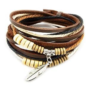 axy TWIC13 Tibet WICKELARMBAND Serie 13! ECHT Leder Armband Leather Bracelet!Surferarmband Schmuck